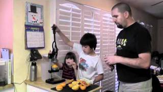 The best way to juice oranges and lemons.  A citrus press review and demonstration.