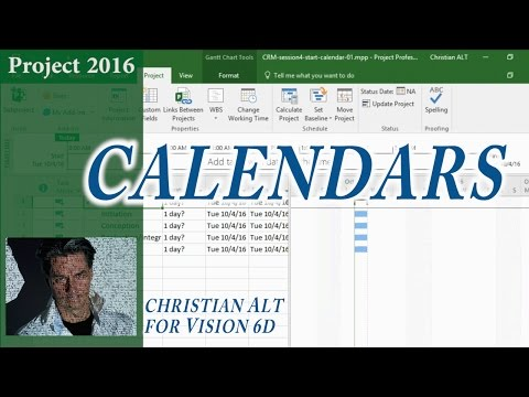 # 11 MS Project 2016 ● Calendars  with Holidays ● Create Specific Calendar