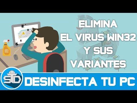 Como eliminar el virus Win32 y sus variantes del Computador | Paso a paso