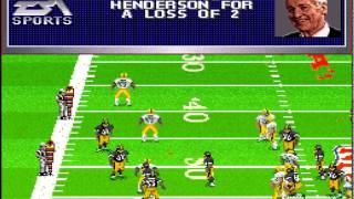 Madden '98 SNES Steelers vs Packers