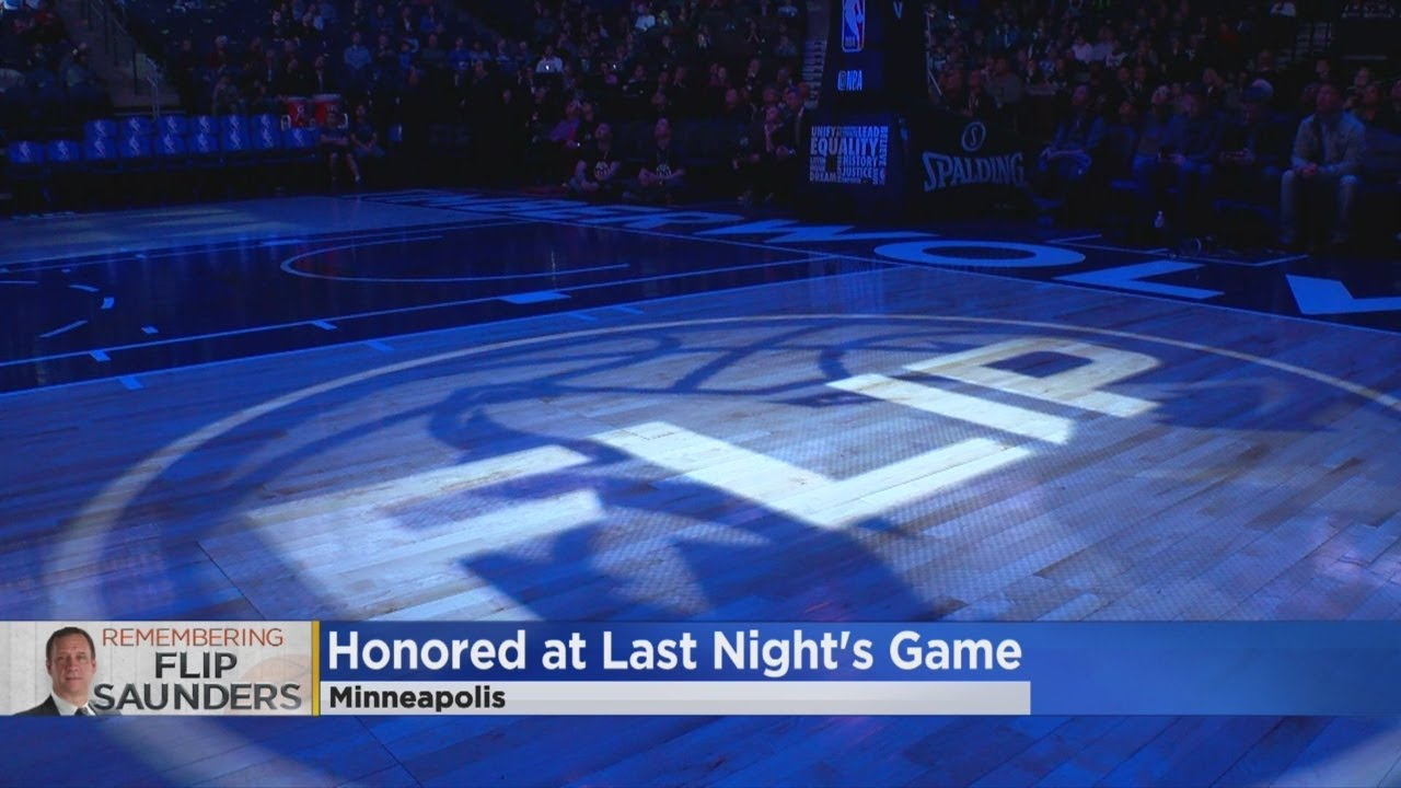 Timberwolves Pay Tribute To Flip Saunders