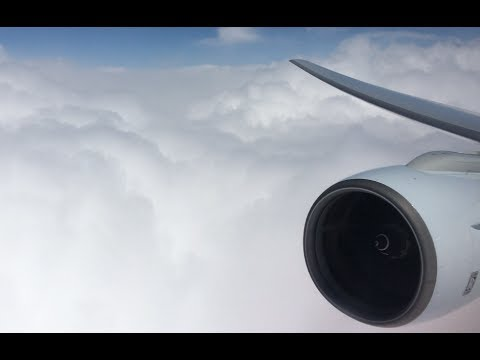 [Rolls-Royce engine view] Cathay Pacific B777-300 LANDING at Seoul Incheon