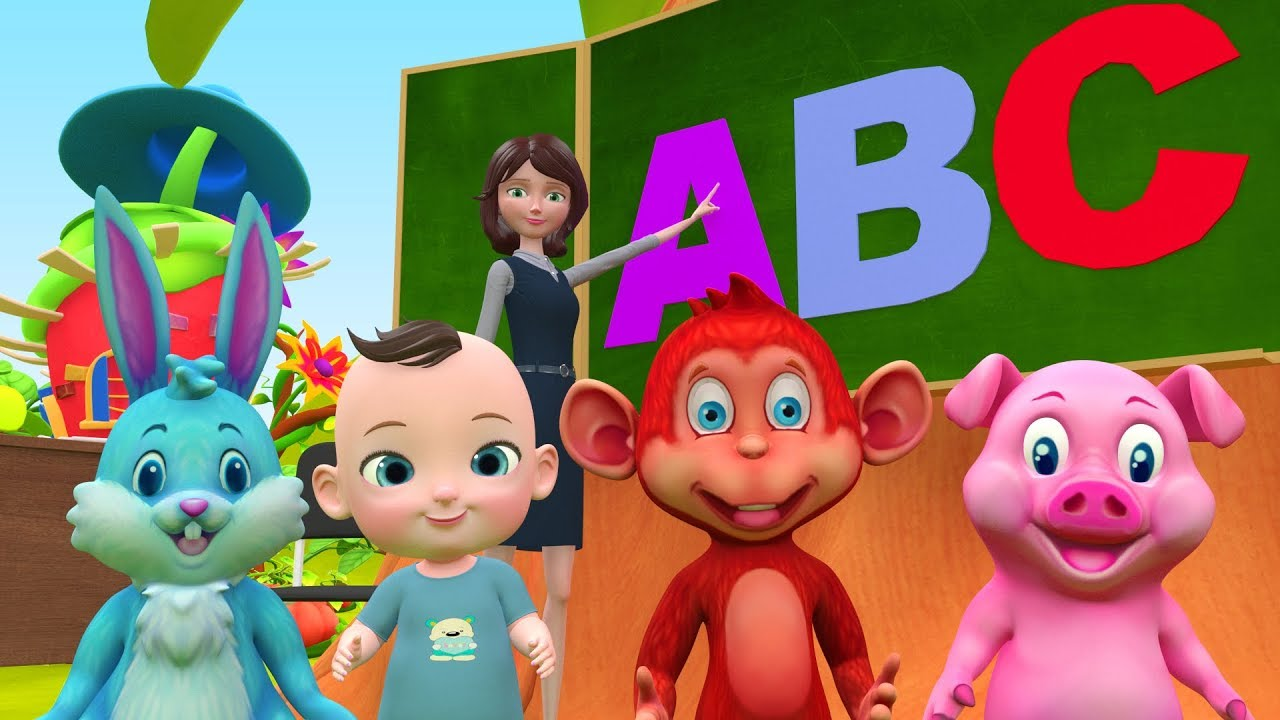 ABC Song Learn English Alphabet for Children with Animals!   ABC phonics + More Kids Nursery Rhymes