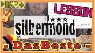 How to Play Silbermond DAS BESTE Tabs Akkorde Akustik Gitarre Lernen Tutorial [HD] Deutsch