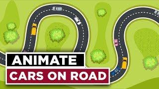 Özel bir Yolda animasyon Arabalar - After Effects Öğretici 2018 CC