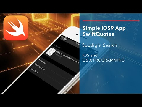 Apple Swift Tutorial: Simple iOS9 Swift Application with Spotlight Search