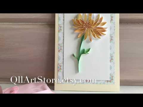 QllArt | Quilling paper art | Quilling pattern chrysanthemum