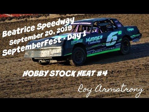 09/20/2019 Beatrice Speedway SeptemberFest Hobby Stock Heat #4
