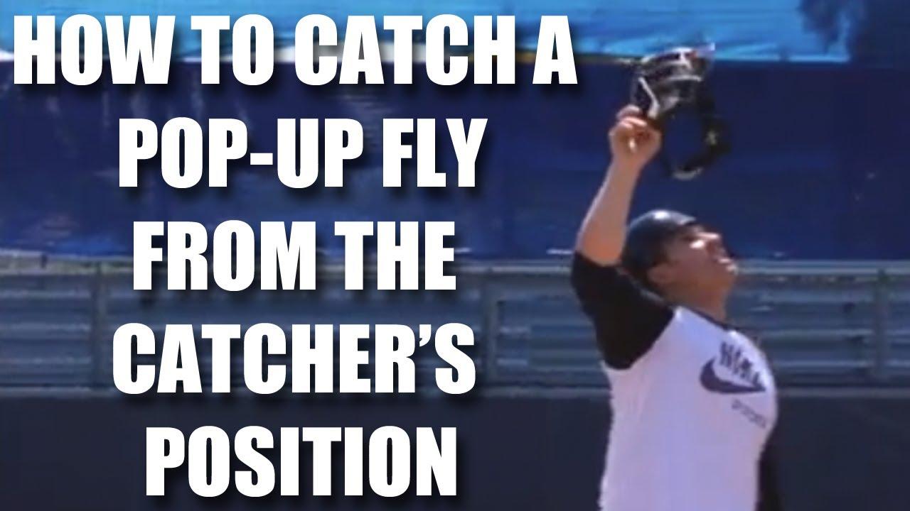 Baseball Catcher Tips How To Catch A Pop Up Fly With Miguel Montero Baseball Catcher Baseball Tips American Baseball League