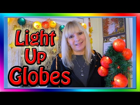 LED Christmas Lights - Paper Mache