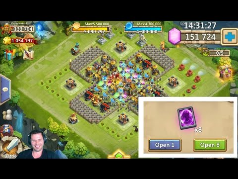Not A Big Spender Rolling 150,000 GEMS IMPORTANT Session Castle Clash