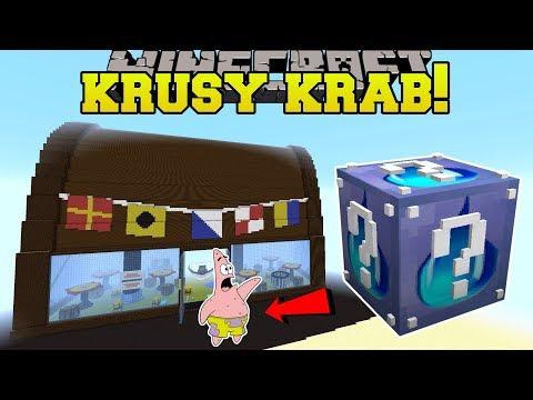 Minecraft: KRUSTY KRAB HUNGER GAMES - Lucky Block Mod - Modded Mini-Game