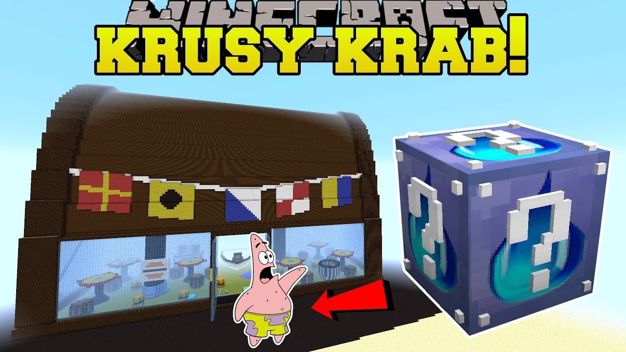 minecraft krusty krab hunger games lucky block mod