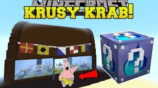minecraft krusty krab hunger games lucky block mod modded mini game