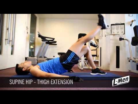 Gerakan Latihan Otot Paha - Supine Hip Thigh Extension