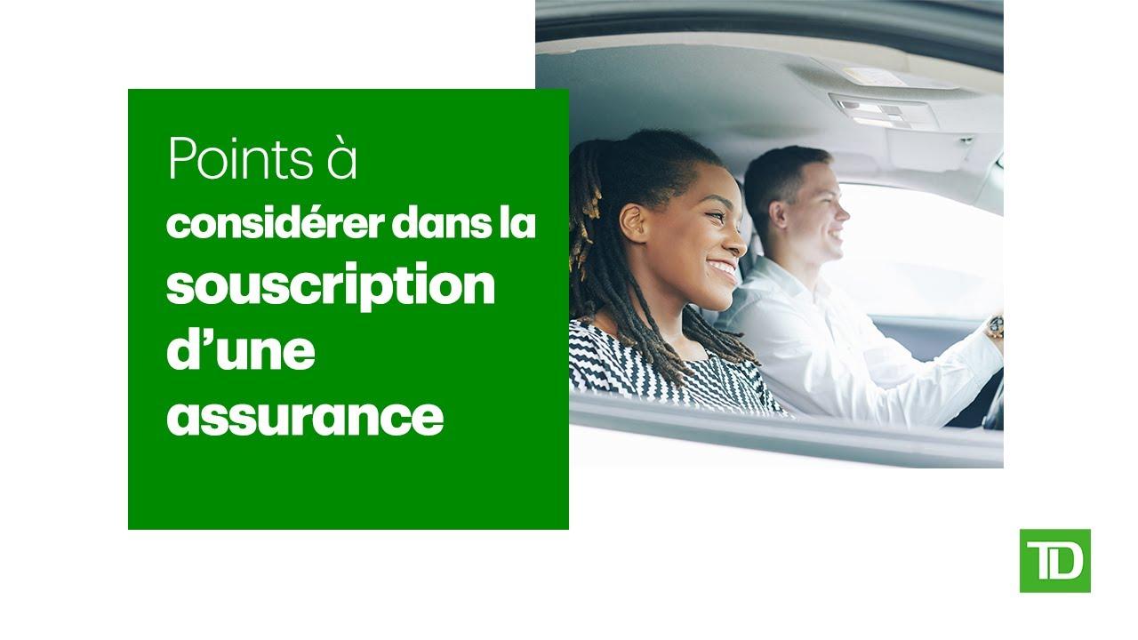 Points à considérer dans la souscription d'une assurance
