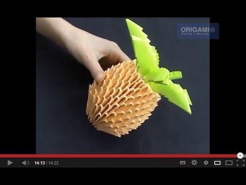 Ананас оригами