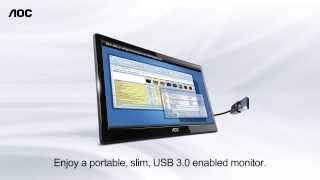 aoc e1659fwu portable 16 in usb monitor with usb3 0 and displaylink