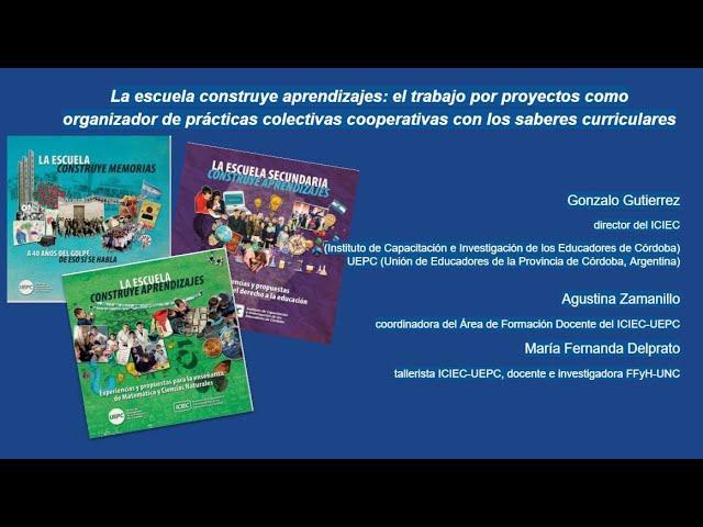 Presentación de la Escuela Construye Aprendizajes en la