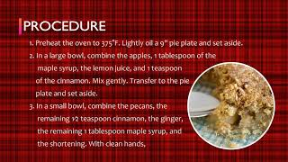 Alive and Well: Crustless Apple Crumb Pie Healthy Recipe | Dr. Martha Howard