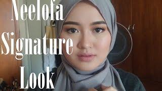 Neelofa Inspired Makeup Tutorial   Neutral Eyes,Nude Pink Lips