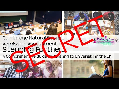 SECRET CHEAT for Cambridge Natural Science Admissions Assessment  UCAS and University #13.5