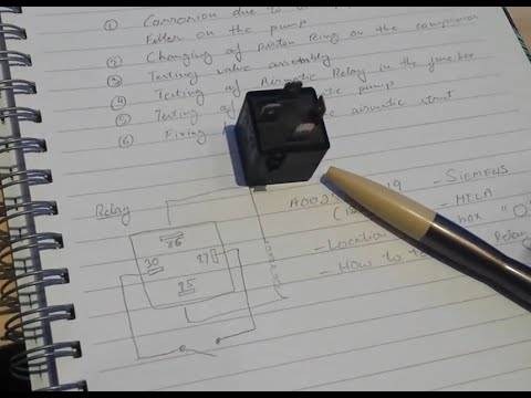 Part 4 W220 Airmatic Testing the airmatic relay - YouTube