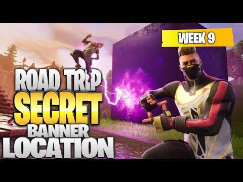 "Fortnite Battle Royale Season 5 Week 9 Secret BANNER Location (""Road Trip"" Challenges)"