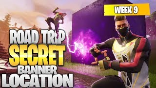 "Fortnite Battle Royale Saison 5 Semaine 9 Secret BANNER Emplacement (""Road Trip"" Challenges)"