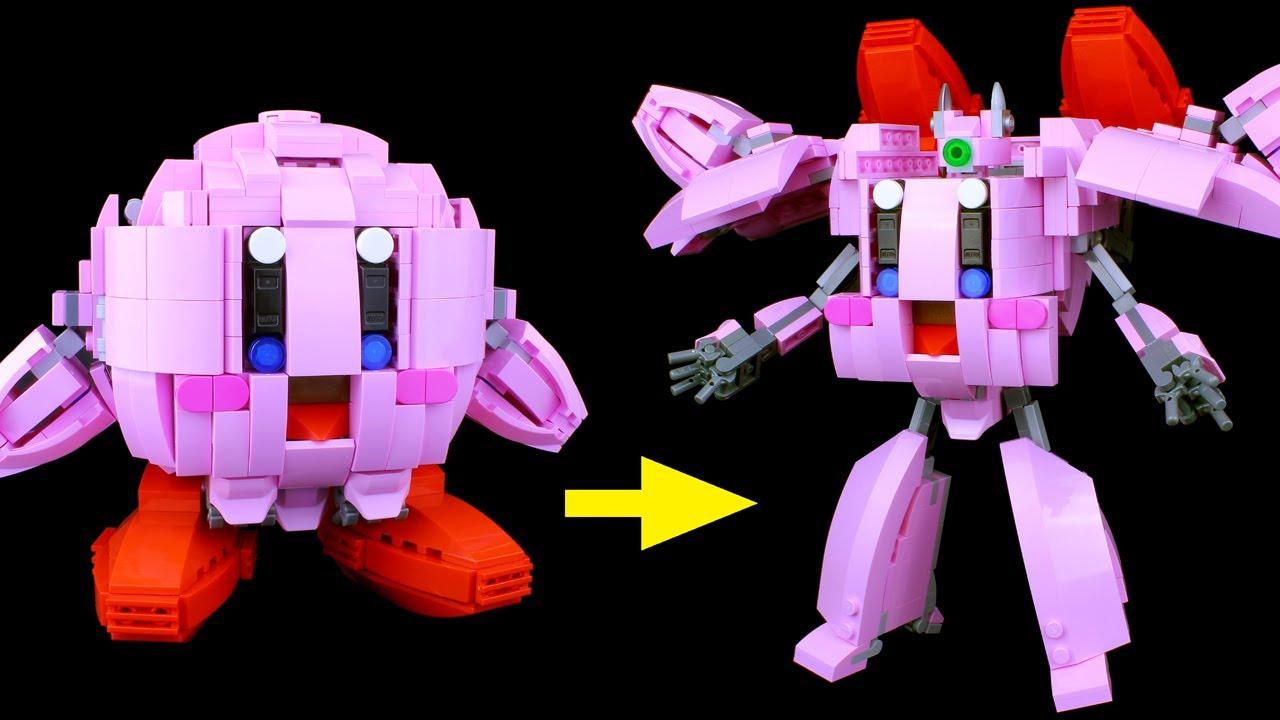 レゴ カービィの変形ロボ作ってみた LEGO Transforming Kirby