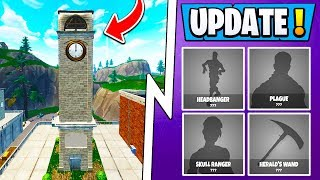 Mise à jour fortnite 6.1 ! RIP Clock Tower, All New Skins, Skull Trooper!