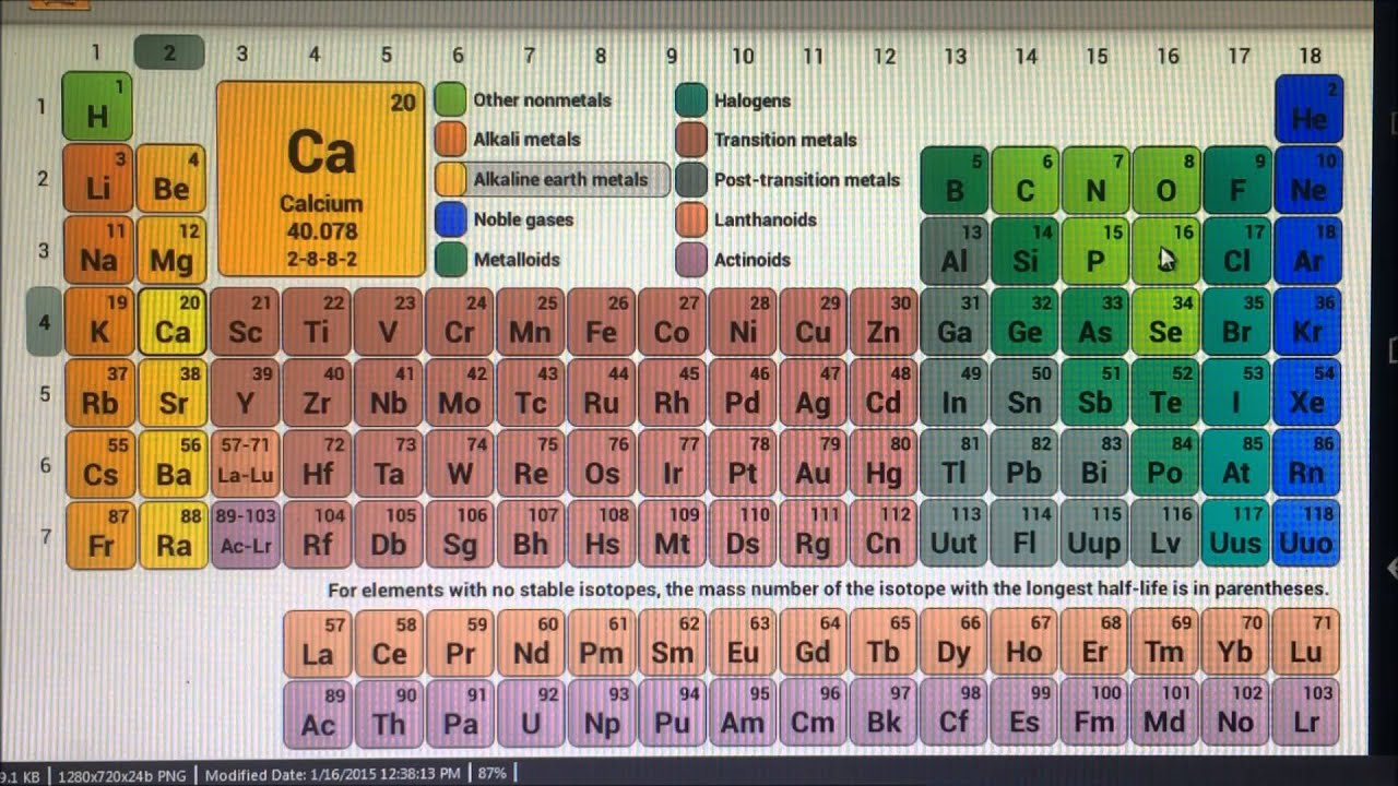 An Easy Way To Memorize The First 20 Elements.   YouTube
