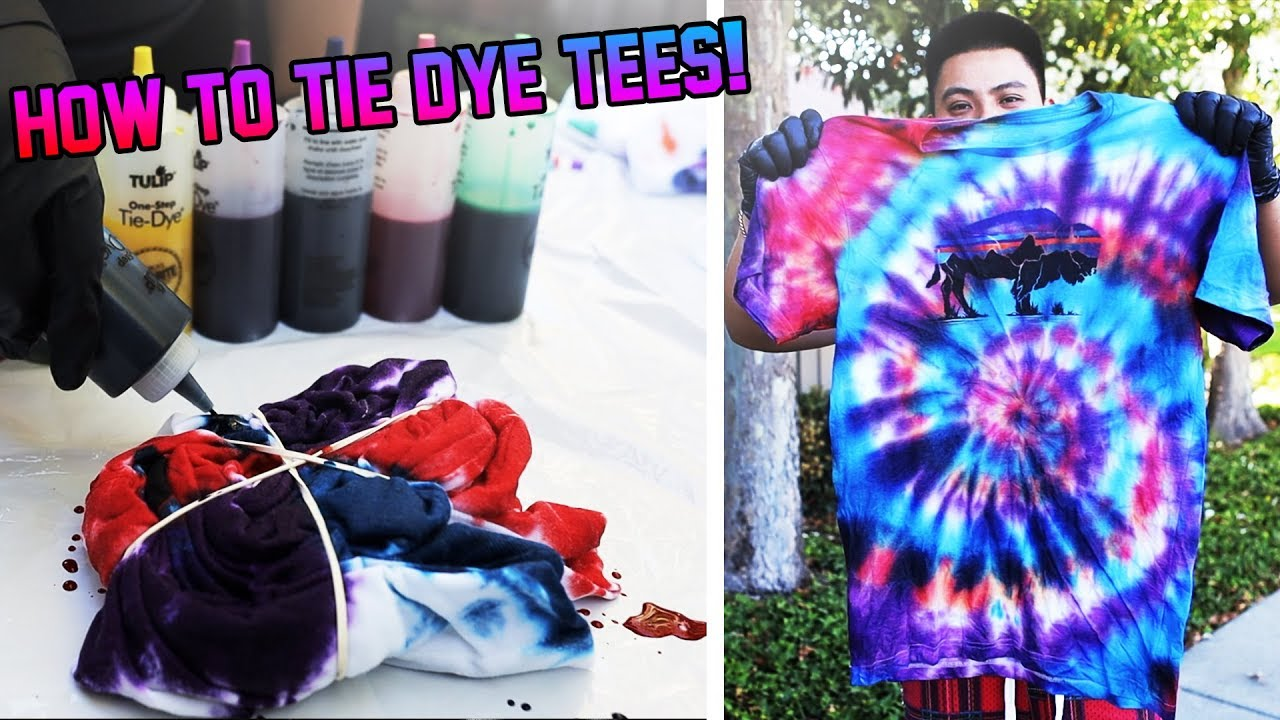 How To Tie Dye T Shirts Tutorial Satisfying Youtube