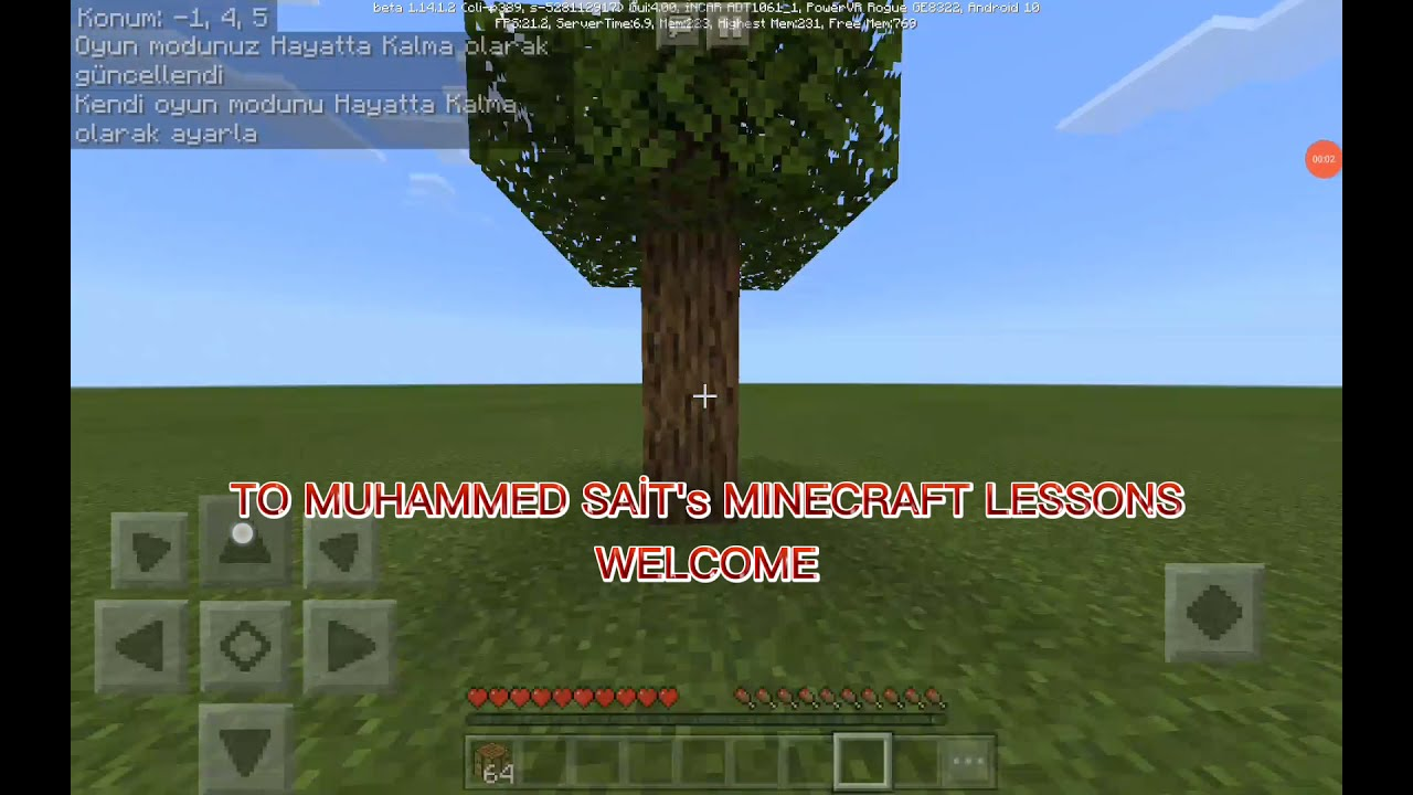 Minecraft Eşya Yapma Masasi Nasil Yapilir How To Make Minecraft Crafti̇ng Table Youtube