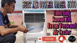 Sansui 22L Room/Personal Air Cooler Unboxing📦⚡⚡Best Cooler Under ₹5000⚡Cooler Unboxing(In Hindi)