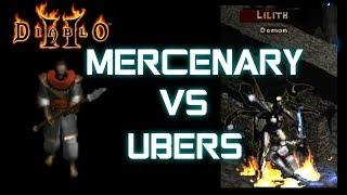 World First Mercenary vs Ubers (Lesser Evils) - Diablo 2