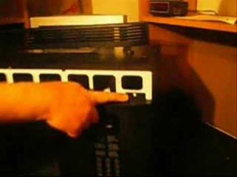 Safely Removing A Microwave Oven S Control Panel Youtube