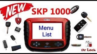 SKP 1000 Key Programmer Full List Function Explore
