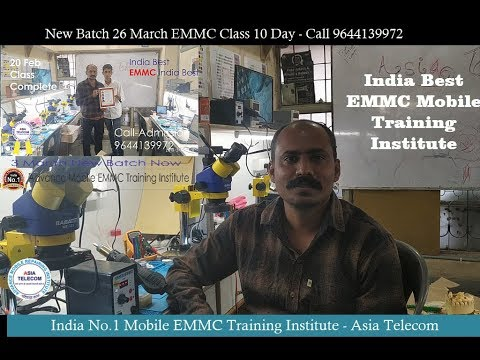 India No.1 EMMC Training Institute-10day class 8hour Particle  -Asia Telecom Student Review -🔥🔥