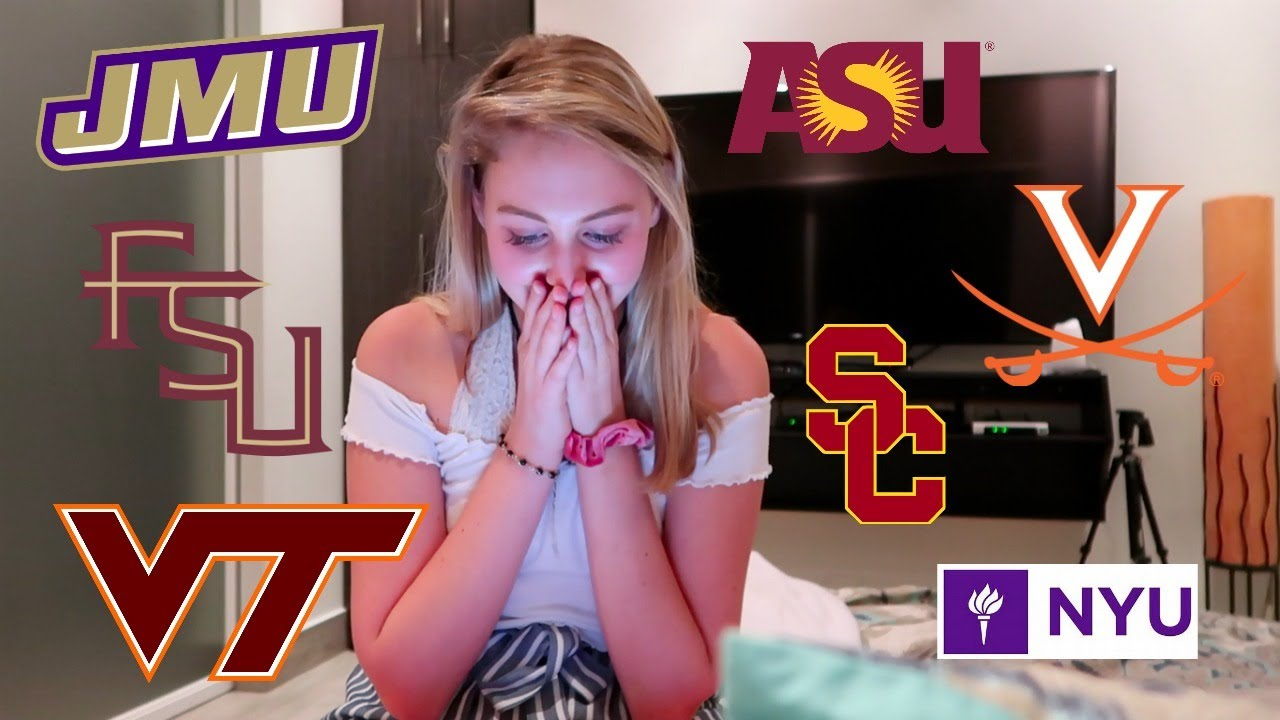 REALISTIC College Decision Reaction 2019!! My College Application Process (my SAT, GPA & AP stat