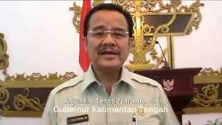 Agustin Teras Narang. SH Gubernur Kalimantan Tengah