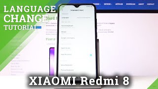 How to Change Language in XIAOMI Redmi 8 – List of Languages