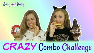 Crazy Food Combinations Challenge ~ Jacy and Kacy