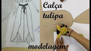 Modelagem em calça tulipa – Luciete Vasconcelos atelier