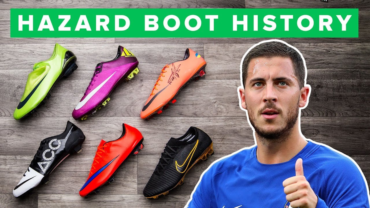 ad051b88e HAZARD BOOT HISTORY 1998 - 2017 | all Eden Hazard football boots ...