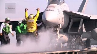 F/A-18E/F Super Hornet Catapult Launchs - USS Enterprise Flight Deck Operations