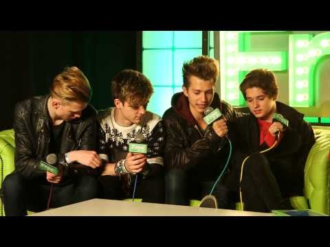 The Vamps Backstage at Free Radio Live 2013