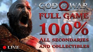 GOD OF WAR 4 (2018) | 100% Completition #1 (Secondaries & Collectibles)