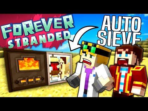 Minecraft - AUTO SIEVE - Forever Stranded #12