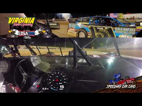 USA100 #22 Russell Erwin - Super Late Model - 6-16-18 Virginia Motor Speedway - In Car Camera